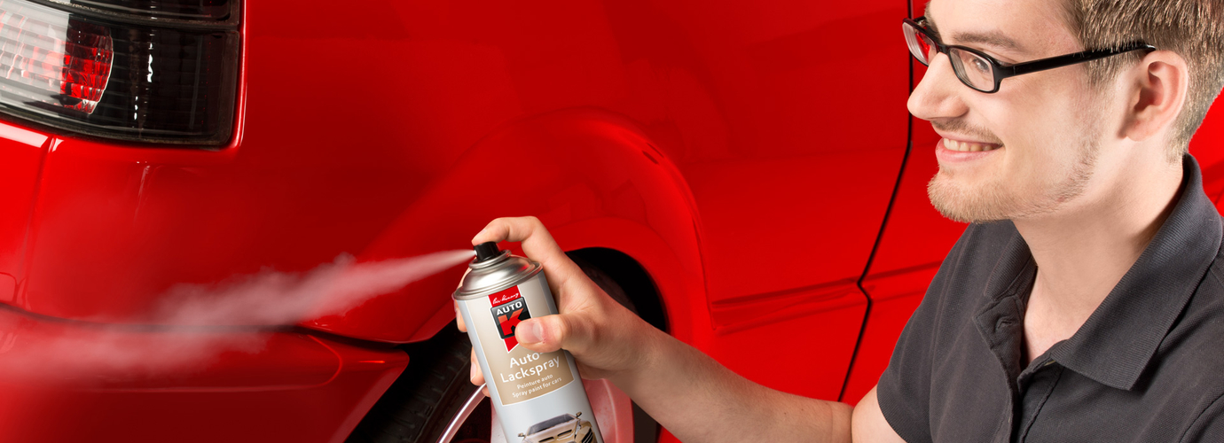 "The original. Proven, popular, renowned: Auto-K Spray-Set ""The paint shop in an aerosol can"""