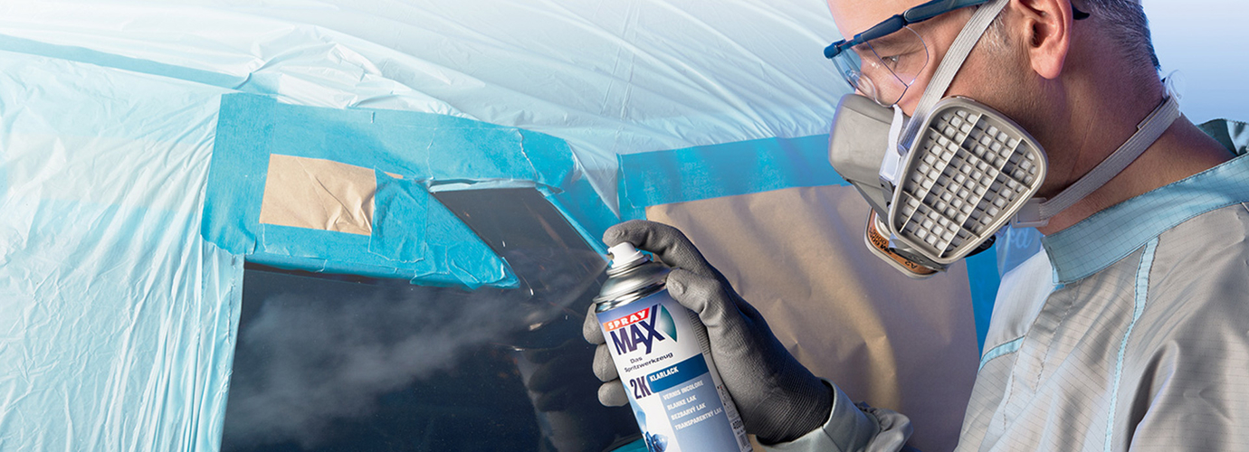 SprayMax - aerosol coating system filled with original paints for professional spot repairs